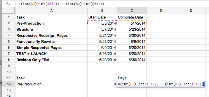 How To Create A Simple Gantt Chart With Google Sheets